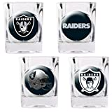 Great American Products Oakland Raiders 4pc Collector's Shot Glass Set by Great American Products