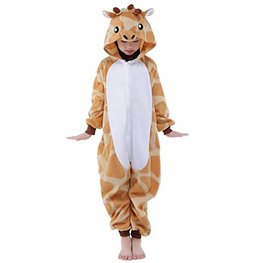 newcosplay unisex children giraffe pyjamas halloween costume 5 height 47 49