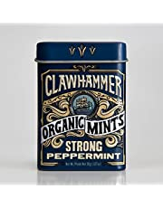 Clawhammer Organic Mints | USDA Certified Organic, Gluten Free, Non-GMO, Kosher | Strong Peppermint, 30 Count Tin (Pack of 12)