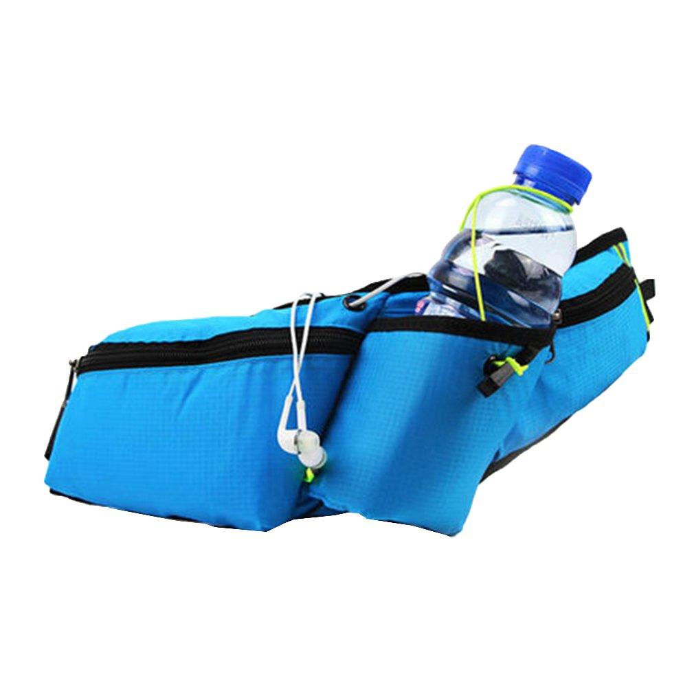 Zhien Cinturón Running Riñonera Deportivo Fitness Impermeable Botella Agua Bolsa Cinturones de Hidratación Senderismo, Escalada, Vacaciones, Jogging, Ciclismo Smartphones Running Belt