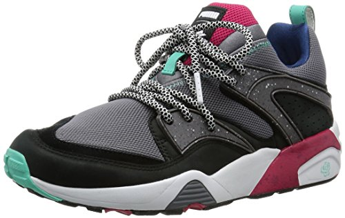 Puma Blaze of Glory for Crossover Collaboration Bog Trinomic Sneaker Men Steel Gray - Black - Rose Red