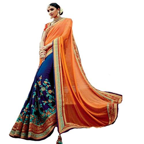 indischen Hochzeit Sari Neue Fashion Frauengewand Designer Arbeit Original Ethnic Traditionelle Sexy 815
