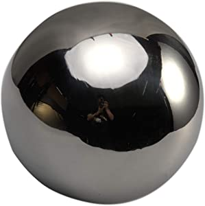 DENPETEC Stainless Steel Gazing Ball Mirror Polished Ball Reflective Garden Sphere, Floating Pond Balls Seamless Gazing Globe for Home Garden Ornament Decorations