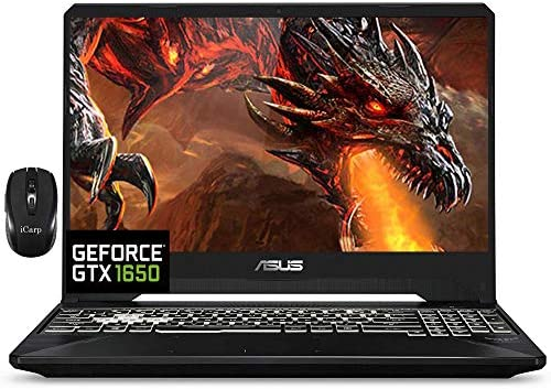 "2021 Flagship Asus TUF FX505GT 15 Gaming Laptop 15.6"" FHD IPS 144Hz Display Intel Hexa-Core i7-9750H 64GB DDR4 1TB SSD GTX 1650 4GB Webcam DTS RGB Backlit WiFi HDMI Win 10 + iCarp Wireless Mouse"