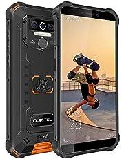 OUKITEL WP5-4G Outdoor smartphone, 5,5 inch 8000 mAh accu MTK6761 4 GB + 32 GB, IP68 13MP + 2MP + 2MP robuste mobiele telefoon, Android 9.0, triple camera, gezichtsherkenning (Oranje)