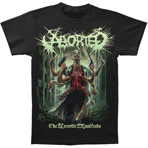 ABORTED THE NECROTIC MANIFESTO  T-Shirt  L