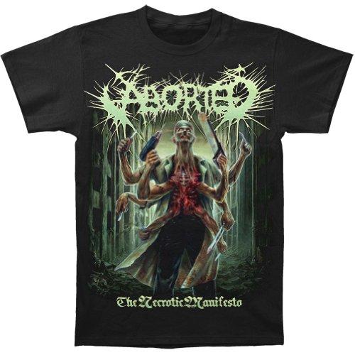 ABORTED THE NECROTIC MANIFESTO T-Shirt L
