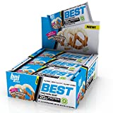 BPI Sports Best Protein Bar, White Chocolate Pretzel, 12 Count - 20g Ideal Protein Mix