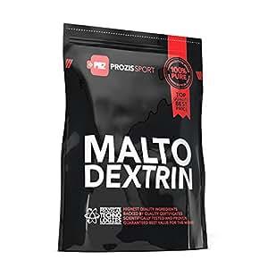 Prozis Maltodextrin Powder 2kg - Estimula los niveles de energía, de recuperación y rendimiento deportivo - Apto para vegetarianos y veganos - Sin grasas ni azúcares - 50 Dosis
