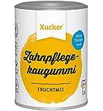 Xucker Zuckerfreie Zahnpflegekaugummis mit Xylit, Frucht-Geschmack, ohne Titandioxid, vegan, 100 g Dose, Xummi, 400