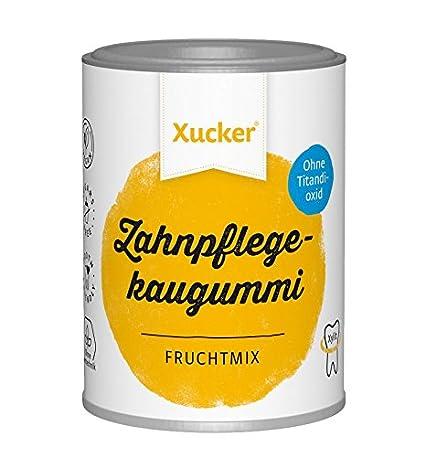 Xucker Zuckerfreie Zahnpflegekaugummis mit Xylit, Frucht-Geschmack ...