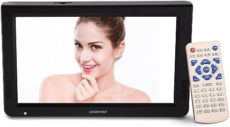 Televisore Digitale 12 Pollici DVB-T-T2 TV Portatile Ricaricabile Schermo TFT-LED per casa//Auto fosa Leadstar