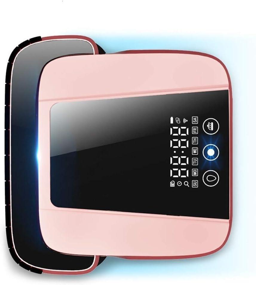 Nettoyage Robot Aspirateur Intelligent Robot Balayer Ménage Mop essuyer le plancher ultra-mince de navigation GPS Recharge automatique, Rose KaiKai (Color : Pink) Pink