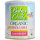Baby's Only Toddler Formula, Organic LactoRelief with DHA&ARA, 12.7oz- 6 Pack