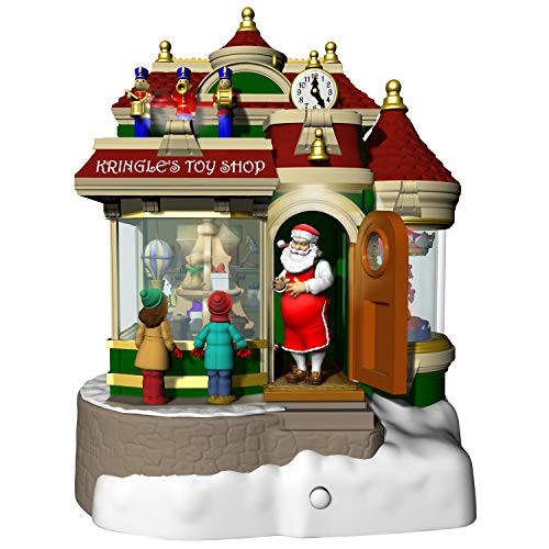 Hallmark Keepsake Christmas Ornament 2019 Year Dated Kringle's Toy Shop with Light, Sound and Motion,