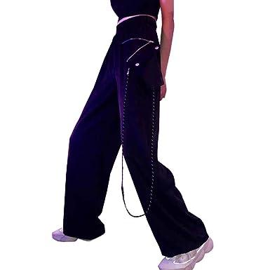 98d6cb7fd6b79 ADLISA Women s Vintage Loose High Elastic Waist Solid Color Wide Leg Pants  Outerwear Sweatpants Trousers Long