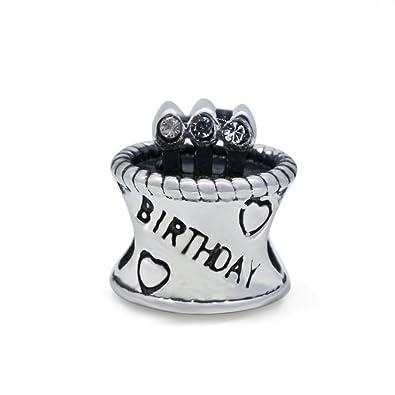 Soulove Torta de cumpleaños de April Cuenta de plata ...