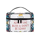 Cosmetic Case Bag Africa Art Paisley Portable Travel Makeup Bag Toiletry Organizer