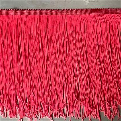 5 Inch Long Fringe Neon Rainbow Chainette Fringe Price Per Yard