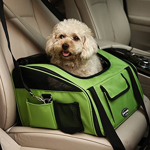 Pet Car Seat Carrier Portable Treat Me Pet Booster Seat with Storage Pocket, Air Mesh, Pets up to 20 lbs by Treat Me