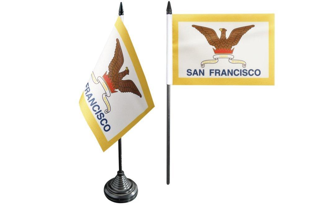 Tischfahne USA City of San Francisco gratis Aufkleber Tischflagge Flaggenfritze/®