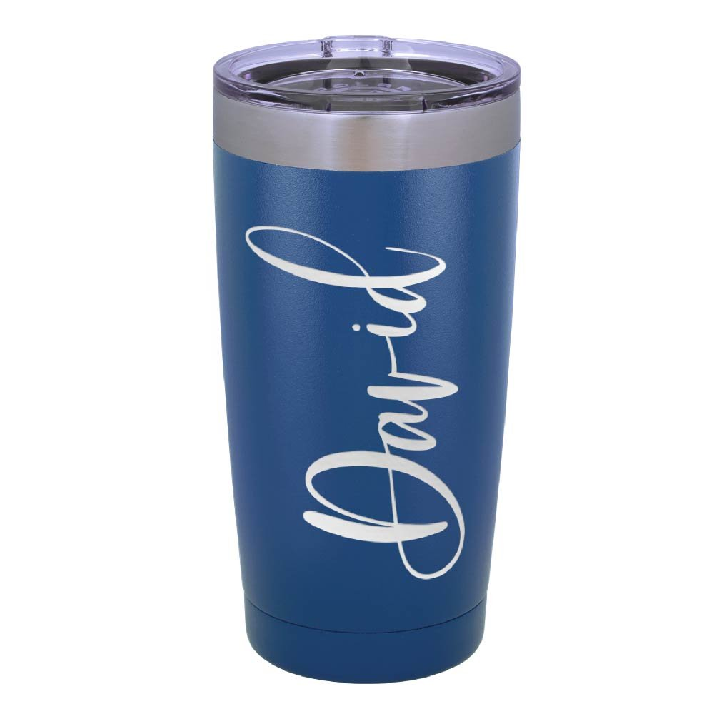 Personalized Name Engraved Double Wall Tumbler Drinking Thermos Insulated Travel Mug | BPA Free Different Color Options 20oz Tumbler with Lid - Gift For Him Her Father Mother Sister Husband Wife #T13