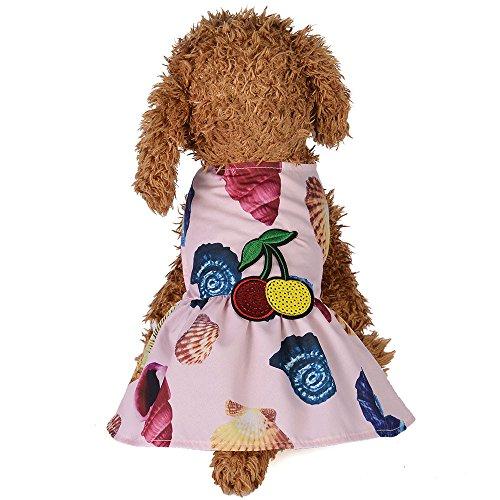 Gogoodgo Pet Dresses, Cute Puppy Apparel Printed Dog Shirt Vest Summer Pet Costume