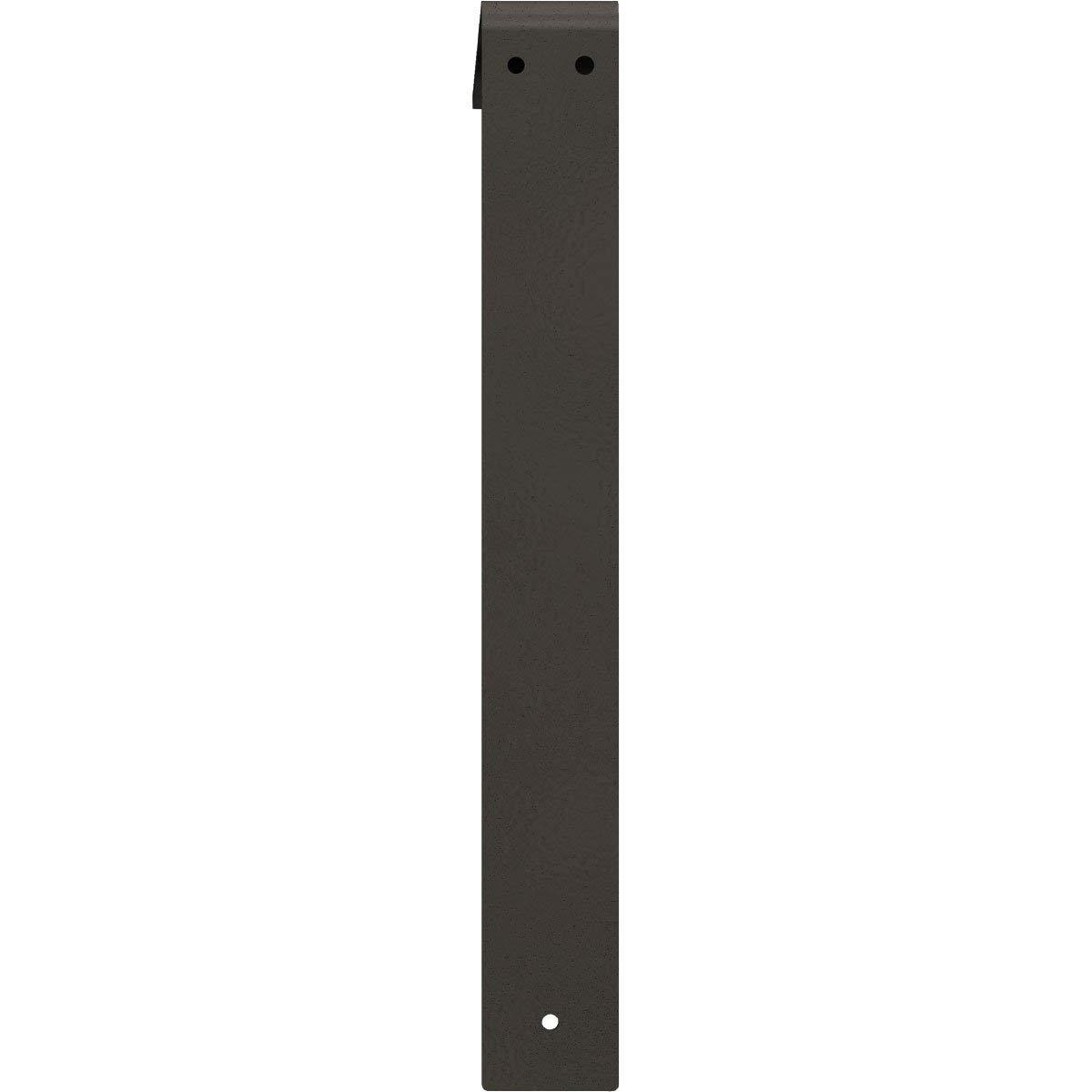 Renewed Ekena Millwork BKTM02X12X12LEHGY 2 W D x 12 H Legacy Steel Bracket Hammered Gray 2 Wx 12 Dx 12