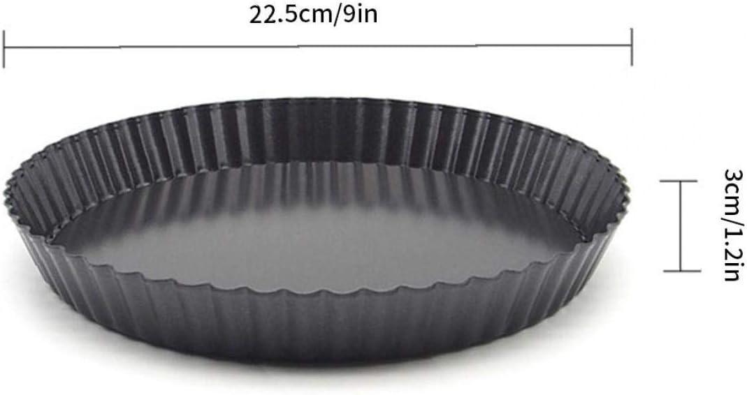 LAANCOO Quiche sartenes no-Sticks Tarta de Queso Pan Pan Molde Desmontable Flojos 2pcs Bottom
