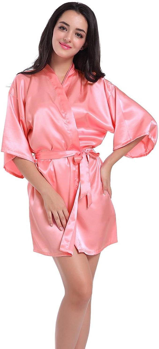 WYSMOL Damigella donore Vestaglie e Kimono Pigiami e Camicie da Notte Donna Accappatoi