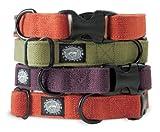 Planet Dog Natural Hemp Adjustable Collar, Orange, Medium