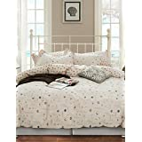 Simple Opulence 100% Cotton Cartoon Printed Ship King Queen Duvet Cover Set with 1 Fitted Sheet and 2 Pillowcases , king