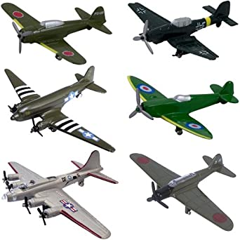 Amazon Com Inair Wwii Planes 6 Piece Set Assortment 2