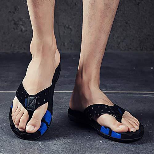 De HUYP Personalidad Moda Sandalias Pantuflas Zapatillas Pinch Ropa Playa Hombres Flops para Y Flip 40 Tamaño Sandalias Oqdwn8p