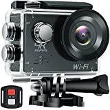 WHLZD Sports Action Camera, 4K WiFi Ultra HD Waterproof Camera ,2.0 Inch LCD HDMI 16MP + 170 Degree Wide Viewing Angle - 2.4G Remote Control With Accessories Kits