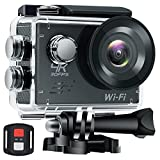 WHLZD Sports Action Camera, 4K WiFi Ultra HD Waterproof Camera ,2.0 Inch LCD HDMI 16MP + 170 Degree Wide Viewing Angle - 2.4G Remote Control With Accessories Kits Action Cameras WHLZD