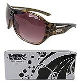 Vox TR90 Sunglasses Sport Aviator Designer Eyewear Fashion Unbreakable – Tortoise Frame – Amber Lens