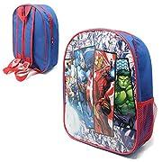 Avengers Comic Junior Backpack School Bag w Side Pocket Children's Kid's Character Boys Girls