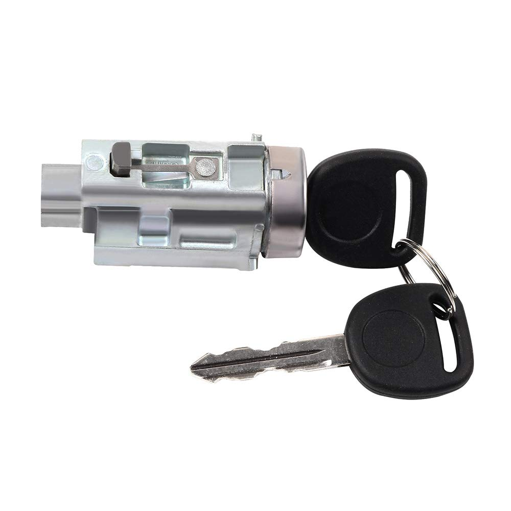SCITOO Ignition Lock Cylinder and Keys High Performance Automotive Replacement Parts Replacement Fits for 1997-2003 Chevrolet Malibu 1999-2004 Oldsmobile Alero 1999-2005 Pontiac Grand Am 123840-5206-1440195901