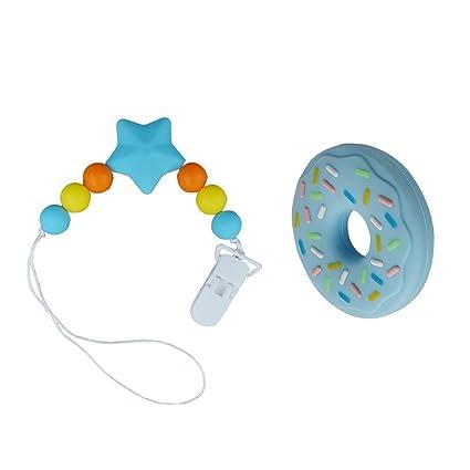 Clip chupete con el bebé Mordedor Macarons juguete, 2-en-1 Chupete ...