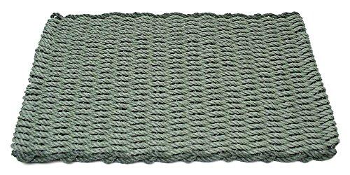 18 X 30 Cape (Sage w Evergreen Rectangular Handcrafted Doormat - Border (Regular: 18 in. W x 30 in. L))