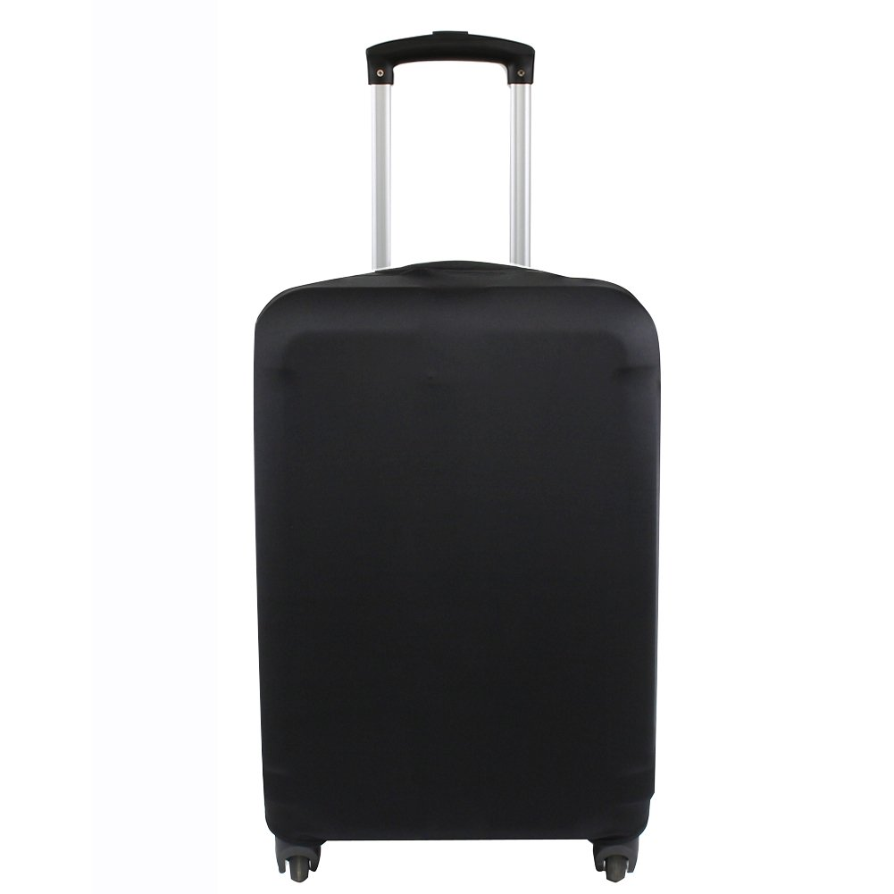 9d6dac7df4b5 Explore Land Travel Luggage Cover Suitcase Protector Fits 18-32 Inch  Luggage (Black, S(18-22 inch Luggage))