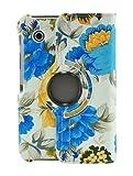 LiViTech(TM) Fresh Peony Flower Design Series 360 Degree Rotating Multi View Cover for Samsung Galaxy Tab 2 7