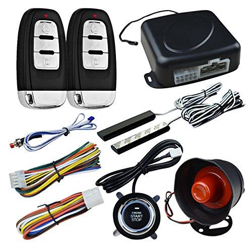Ocamo Sistema de Seguridad de la Alarma del Coche,Sistema de Arranque Remoto del botón de Entrada sin Llave
