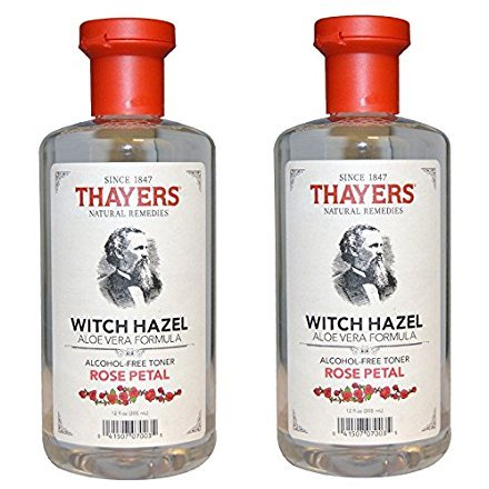 Thayers Alcohol-free HydKtr Rose Petal Witch Hazel with Aloe Vera, 2Pack (12oz)