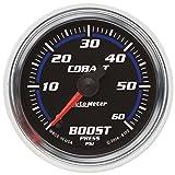 Auto Meter | 6170 5'' Cobalt Series - Boost Gauge - Electric - Full Sweep - 0-60 PSI