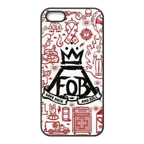 Fall Out Boy 002 coque iPhone 4 4S cellulaire cas coque de téléphone cas téléphone cellulaire noir couvercle EEEXLKNBC24994