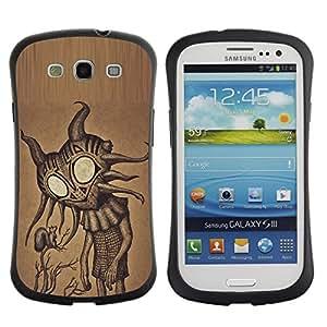 Suave TPU GEL Carcasa Funda Silicona Blando Estuche Caso de protección (para) Samsung Galaxy S3 I9300 / CECELL Phone case / / Cute Friendly Big Eyes Alien Art /