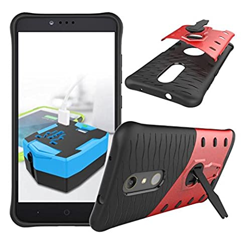 ZTE Zmax Pro Case, NOKEA Heavy [Heavy Duty] [Dual Layer] Combo Holster Cover Defender Full Body Protective Cover with 360 Degree Rotating Kickstand for ZTE Zmax Pro / Carry Z981 (Zte Zmax Phone Case Animals)