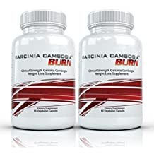 Garcinia Cambogia Burn (2 Bottles) - Maximum Strength Garcinia Cambogia Weight Loss Supplement. The Top Rated All Natural Fat Burning Diet Formula